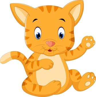 Kreskówka ładny kot