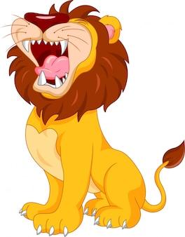 Kreskówka ładny lew