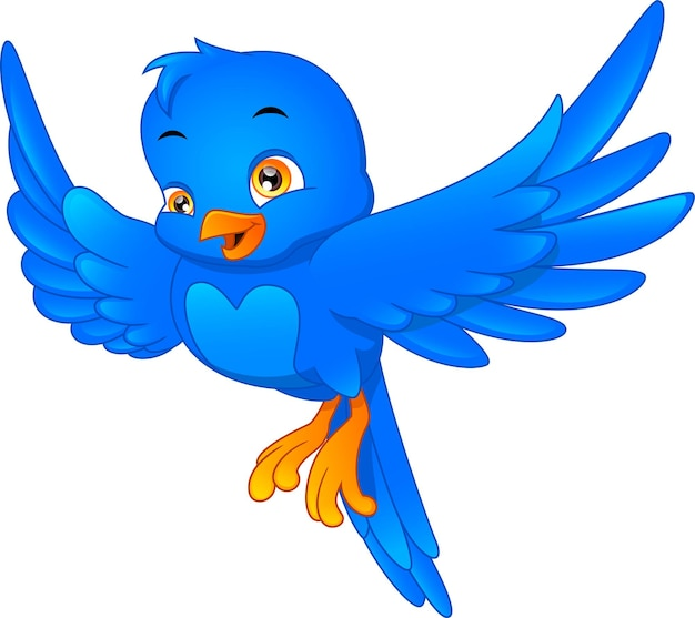 Kreskówka ładny ptak