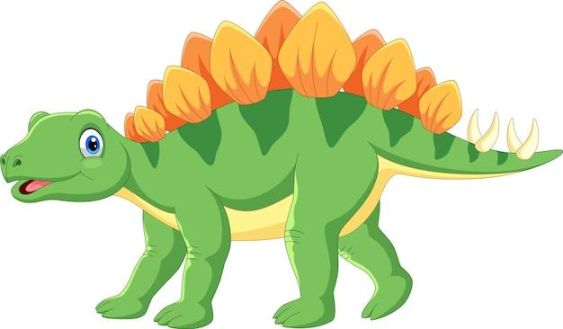 Kreskówka ładny stegozaur