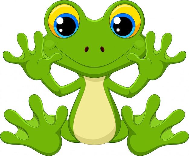 Kreskówka ładny żaba