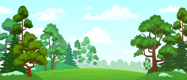 Kreskówka leśna polana