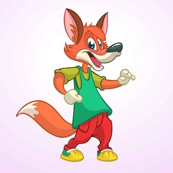 Kreskówka lisa śmieszna ilustracja