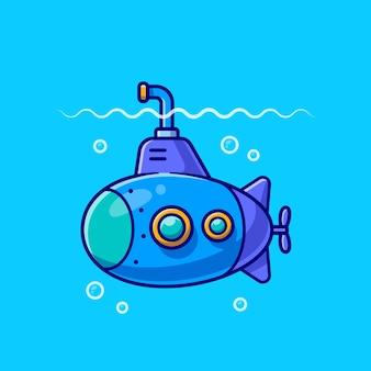 Kreskówka łódź podwodna