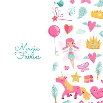 Kreskówka magiczne i bajkowe elementy