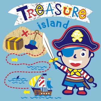 Kreskówka małego pirata