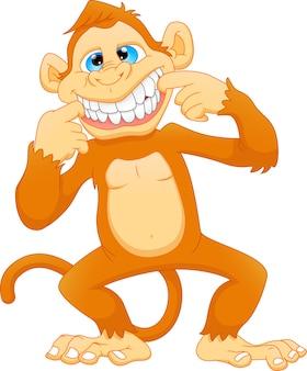 Kreskówka małpa ładny