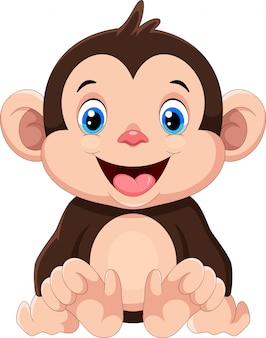 Kreskówka małpa słodkie dziecko