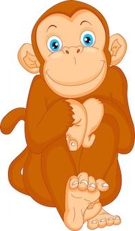 Kreskówka małpa
