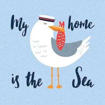Kreskówka marynarz seagull.