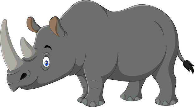 Kreskówka maskotka nosorożca