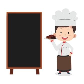 Kreskówka maskotka szefa kuchni