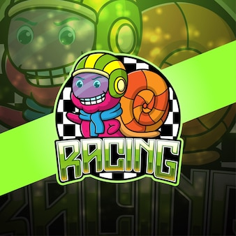Kreskówka maskotka wyścigów ślimaków