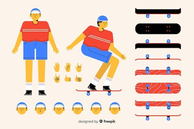 Kreskówka mężczyzna postać do projektowania ruchu