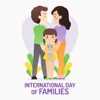 Kreskówka międzynarodowy dzień rodzin ilustracji