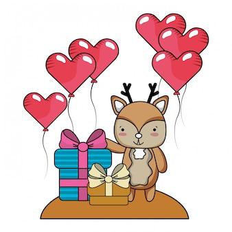 Kreskówka miłości i zwierząt
