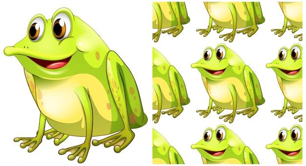 Kreskówka na białym tle żaba wzór