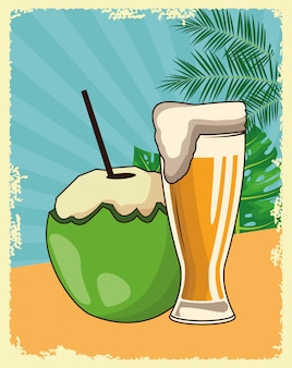 Kreskówka napoje alkoholowe napoje