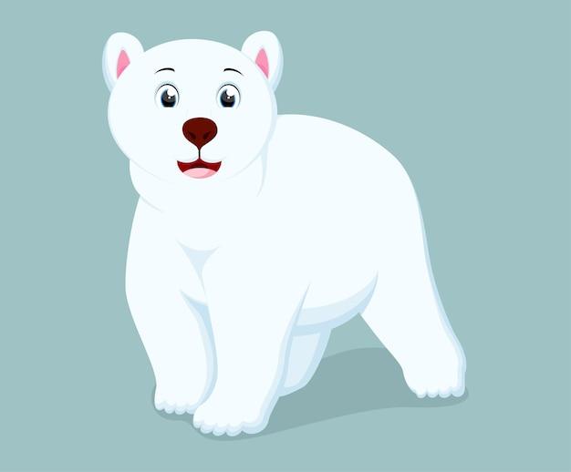 Kreskówka niedźwiedź polarny