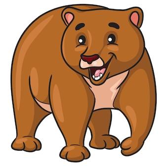 Kreskówka niedźwiedzia brunatnego