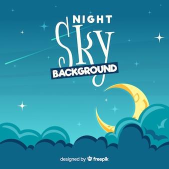 Kreskówka nocnego nieba tło
