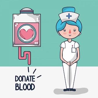 Kreskówka oddawania krwi