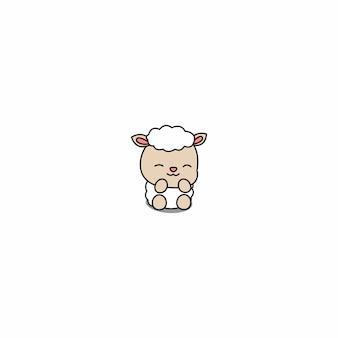 Kreskówka owca słodkie dziecko