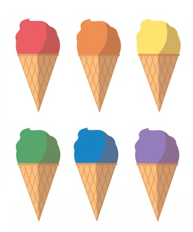 Kreskówka pastelowe lody