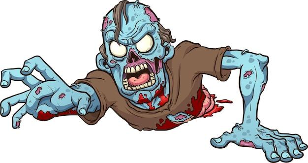 Kreskówka pełzający zombie