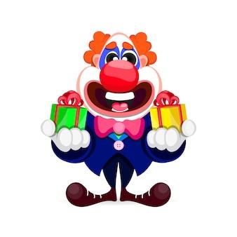 Kreskówka piękny clown