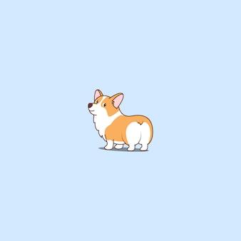 Kreskówka pies ładny corgi