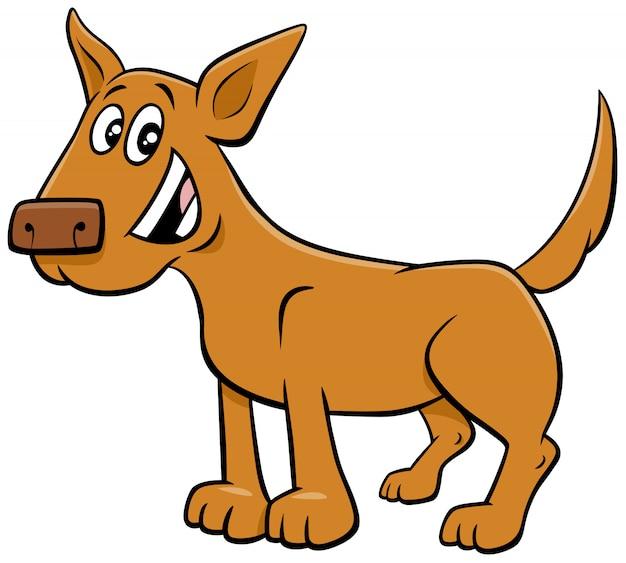 Kreskówka pies lub szczeniak zabawny charakter zwierząt
