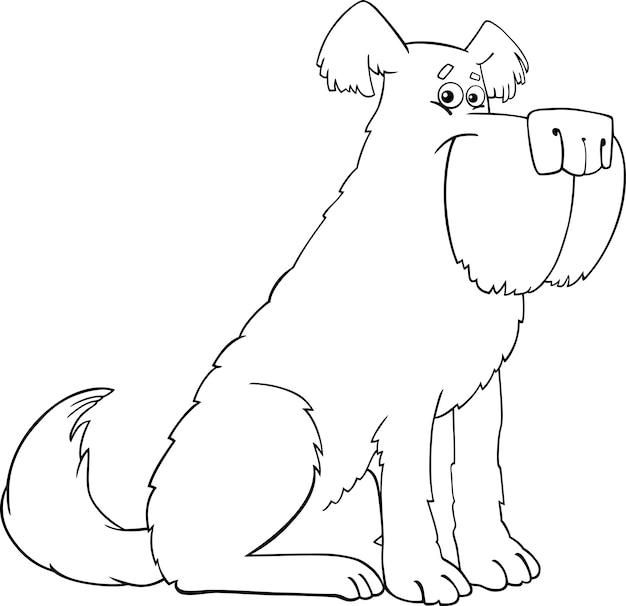 Kreskówka pies shaggy dla kolorowanka