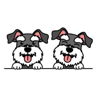 Kreskówka pies sznaucer miniaturowy, ilustracji wektorowych