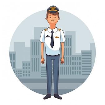 Kreskówka pilot samolotu