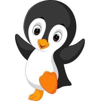 Kreskówka pingwin ładny