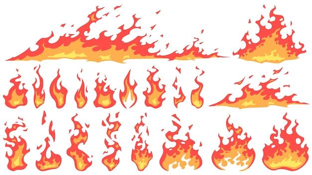 Kreskówka płomienie ognia