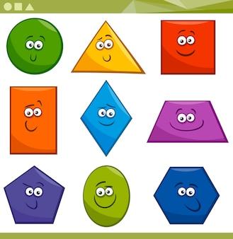Kreskówka podstawowe kształty geometryczne
