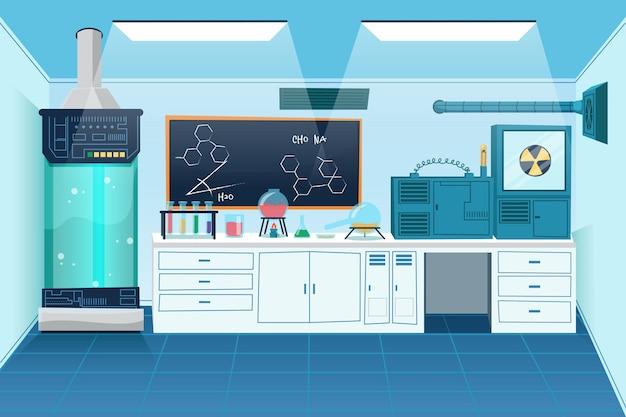 Kreskówka pokój laboratoryjny