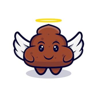 Kreskówka poop anioł