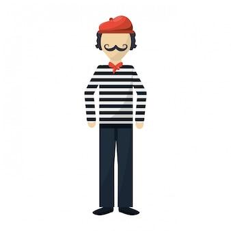 Kreskówka postać francuza