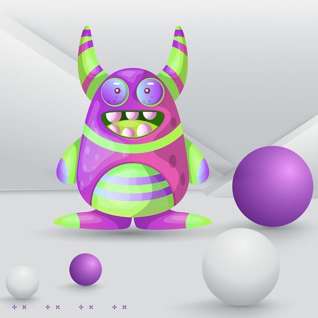 Kreskówka potwór macha witam