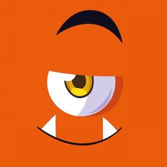 Kreskówka potwór pomarańczowy