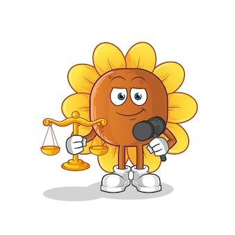 Kreskówka prawnik kwiat słońca