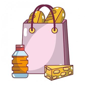 Kreskówka produktów supermarketów