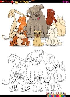 Kreskówka psy kolorowanki