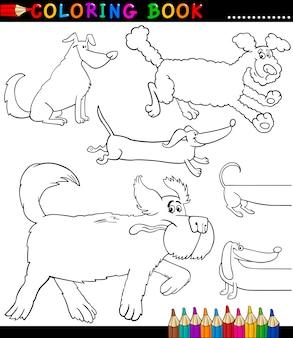 Kreskówka psy lub szczenięta kolorowanki