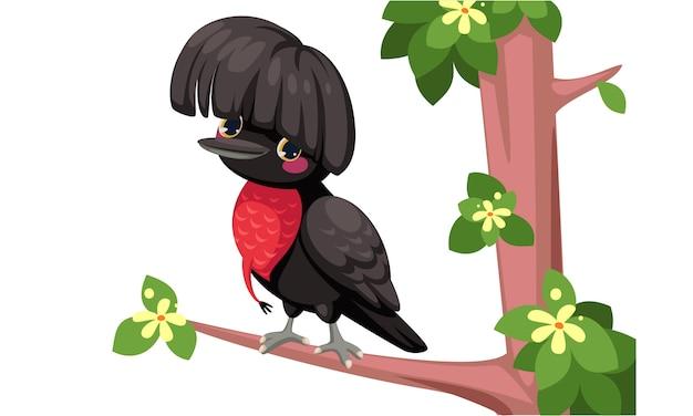 Kreskówka ptak parasol
