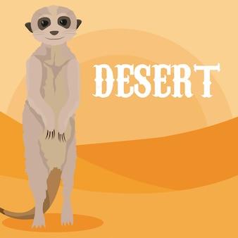 Kreskówka pustyni zwierząt