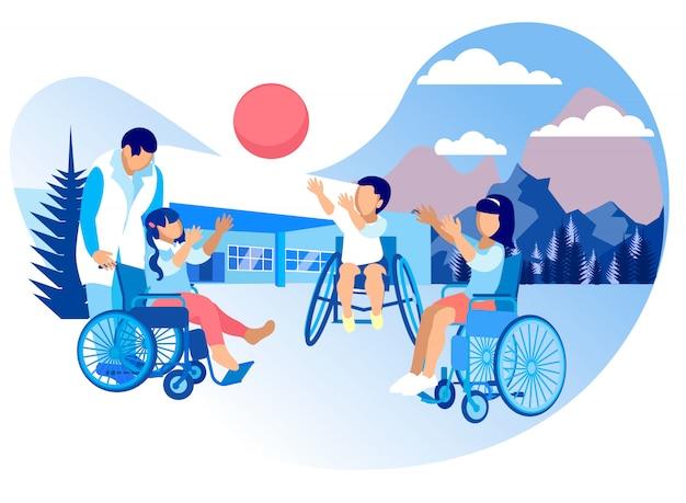 Kreskówka rehabilitacji i adaptacji dla dzieci